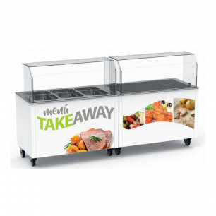 modulos take away placa caliente cristal templado GN