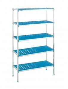 estanteria aluminio y polietileno 5 estantes